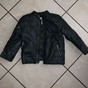Kids faux leather jacket zara